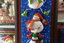 cuadro de muñecos de nieve