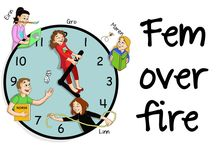 Fem over fire