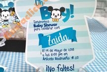Fiestas Mickey Minnie baby shower / Artículos para la fiesta de Mickey, mickey vintage, mickey cuttien, Minnie baby shower