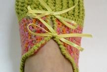 crochet slipers / by Jill Searle-Martin