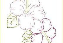 bloemen borduren