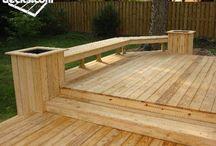 Deck ideas / landscaping, backyard ideas, deck ideas, outdoor decor, design, landscape, outdoor spaces, porch, curb appeal, DIY, outdoor living, plants