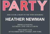 Bachelorette Party Invitations / by April Demmer