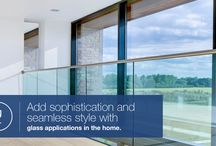 Glass Application Ideas / There are many benefits to using glass in the home, for example how easy-to-clean it is, the low maintenance and high longevity as well as the clean and space-enhancing look it brings.