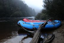 Camping on a Franklin River Rafting ™ trip / Camp scenarios on a Franklin River Rafting ™ trip.