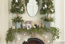 how to decorate fireplace mantel for christmas