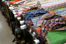 Fabrics / Silks, cottons, wools and more types of fabric go into the creation of R Hanauer's bowties and accessories.