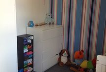 Zach's Train Themed Bedroom / Toddler Boys Train Themed Room. For more information and photos visit www.theforeverhousecharm.com