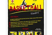 Basketball und Streetball / Die informativen Basketball- und Streetballschilder  sind in verschiedenen Schilderserien und Größen erhältlich.