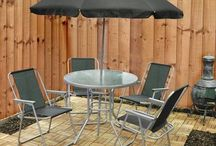 Outdoor Patio Set Garden 6 Piece Home Relax Summer Furniture Covers 4 Seater Set