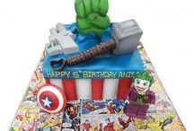 marvel comic cakes