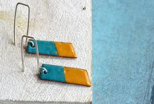 Twin* a collection by Fleurfatale / Sterling silver, copper and enamel, handforged by Fleurfatale