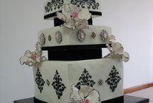 černo bílý dort