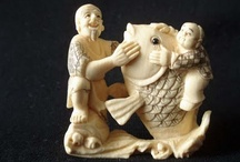netsuke, okimono & inro / Tiny Treasures / by Marianne Conner