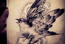 Passaros / Ideias e tattoos de passaros