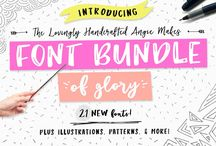 Paid Fonts & Font Bundles / 0