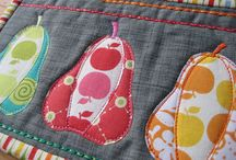 Quilts with Food / Pears, Strawberries, etc