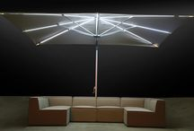 Parasols with LED lights