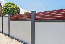 Modular Wall Systems UK / Acoustic boundary wall, Fence Ideas, Designer Fencing, Landscaping ideas