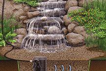 водопады для сада