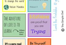 School Printables / Great printables for lunch boxes, binders and any school related project.  Easy and FREE to print