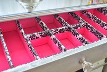 gavetas de bijus / bordados