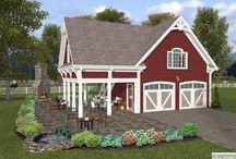 Farm Home: Dream Barn / Barn decor, windows, lights, siding and more.