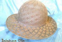 Вязаные шляпки,шляпы