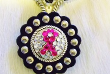 Necklaces and Hair Accessories / Our fun necklaces are a great accent to any outfit! Need different crystal colors let us know. Also ask about many choices of cord colors.