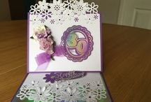 Female Bithday Cards Pink Paper Blossoms