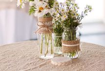 Flowery jars and bottles