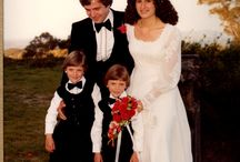 Children in Weddings / I love children in weddings and have started my collection with a photo of my wedding (10/10/81) with my husband's twin nephews as page boys.