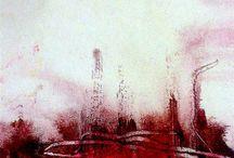 Röd/vit tavla