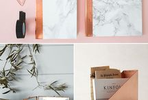 rose gold/copper home accessories