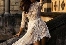 Romantic lace,chiffon and sequine