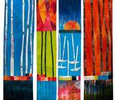 Favourite art quilts / Favourite art quilts for abstract art course with Elizabeth Barton