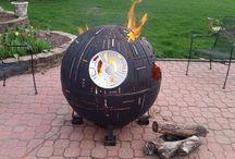 ohniště, grill, ...