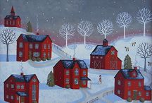 Folk art / Examples of such simple ways to convey a scene. / by Kim Rivard