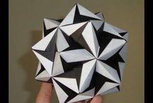 Origami - Kusudama / Bolletjes maken van gevouwen elementen / by Irene Planting