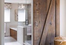 Rustic spa bathrooms