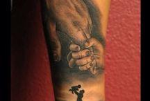 Vater/Tocher-Tattoos
