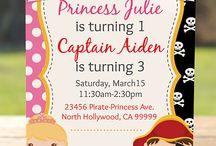 Princess and pirates birthday