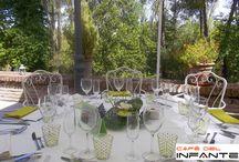 El placer de una buena mesa. / Decoración de mesas para celebración.