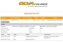Nuentros Envíos Realizados a Nuestros Clientes / Envíos realizados a través de la empresa Olva Courier