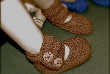 Button Booties / Hand Crafted Avaliable for $ 25. S,M,L sized / by Deanna Kiebke