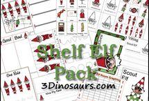 Elf on a shelf / Ideas for our Christmas shelf  elf