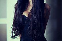 Pretty girl with black hair