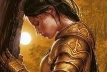 Szent Johanna / számomra kedves védőszent megmutatta hogy a nők is tudnak küzdeni a hitükért