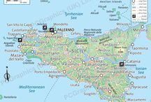 Sicily maps / A small selection of maps of Sicily produced by PCGraphics. Find out more about our maps on our website (http://www.pcgraphics.uk.com) or on our other Pinterest Boards.