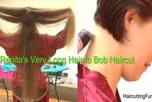 Renita's Very Long Hair to Bob Haircut / Photos from Renita's Very Long Hair to Bob Haircut video. You'll find the video at www.haircuttingfun.com